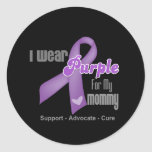 I Wear a Purple Ribbon For My Mommy Classic Round Sticker