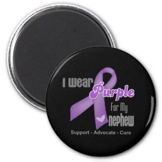 I Wear a Purple Ribbon For My Nephew Magnet