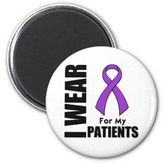 I Wear a Purple Ribbon For My Patients Refrigerator Magnet
