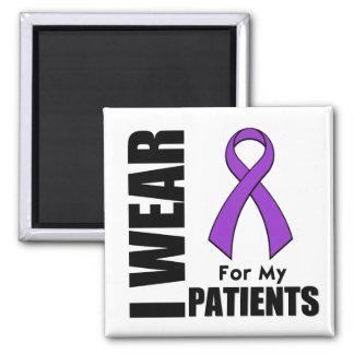 I Wear a Purple Ribbon For My Patients Fridge Magnets