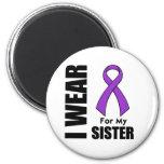 I Wear a Purple Ribbon For My Sister Fridge Magnets