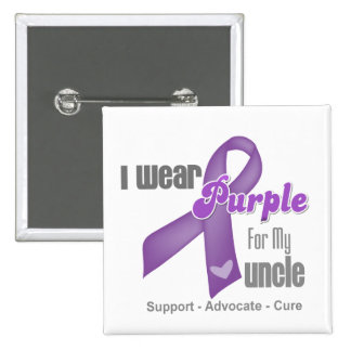 I Wear a Purple Ribbon For My Uncle Pinback Button