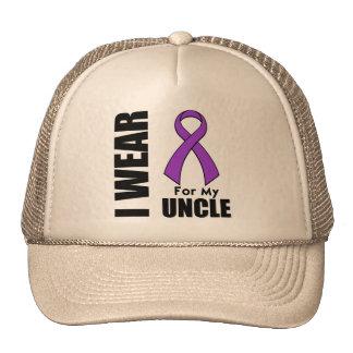 I Wear a Purple Ribbon For My Uncle Trucker Hat