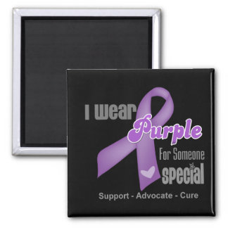 I Wear a Purple Ribbon For Someone Special Magnets