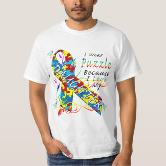 I Wear A Puzzle Because I Love My Daughter Shirt