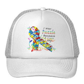 I Wear A Puzzle Because I Love My Friend Trucker Hat