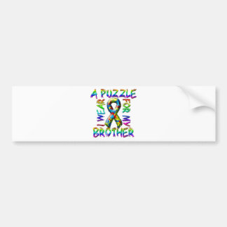I Wear A Puzzle for my Brother Bumper Sticker