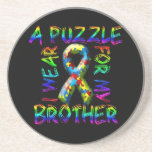 I Wear A Puzzle for my Brother Drink Coasters
