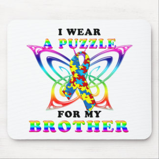 I Wear A Puzzle for my Brother Mouse Pad