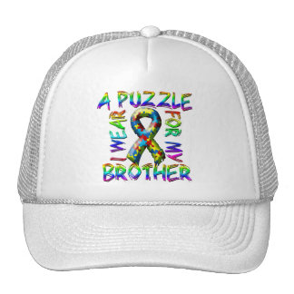 I Wear A Puzzle for my Brother Trucker Hat