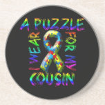 I Wear A Puzzle for my Cousin Beverage Coasters
