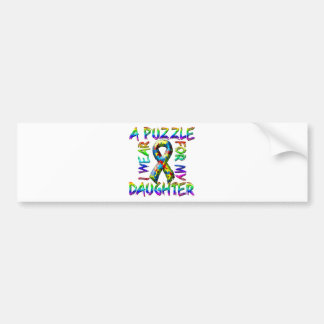 I Wear A Puzzle for my Daughter Bumper Sticker