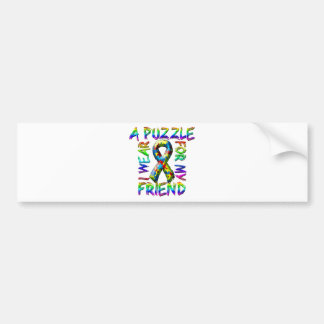I Wear A Puzzle for my Friend Bumper Sticker