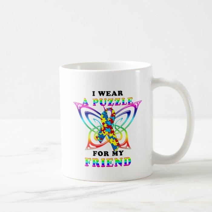 I Wear A Puzzle for my Friend Coffee Mug