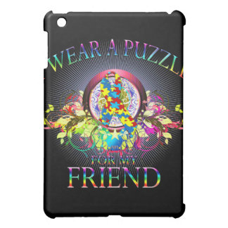 I Wear A Puzzle for my Friend (floral) iPad Mini Case