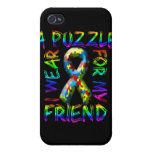 I Wear A Puzzle for my Friend iPhone 4 Covers