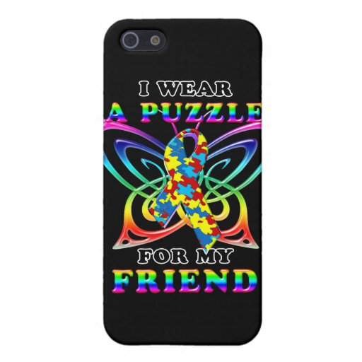 I Wear A Puzzle for my Friend iPhone 5 Cases