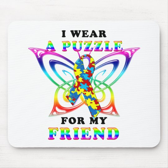 I Wear A Puzzle for my Friend Mouse Pad