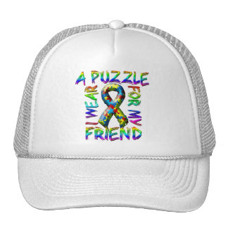 I Wear A Puzzle for my Friend Trucker Hat