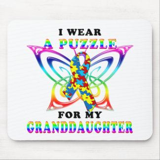 I Wear A Puzzle for my Granddaughter Mouse Pad