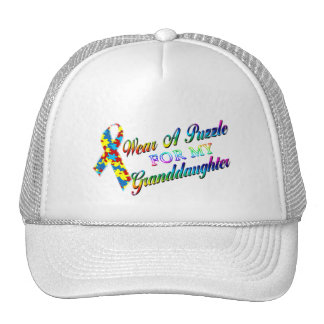 I Wear A Puzzle for my Granddaughter Trucker Hat