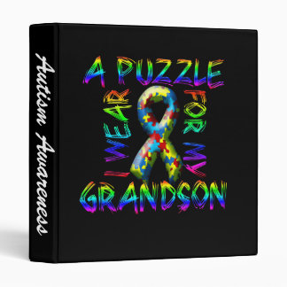 I Wear a Puzzle for my Grandson Binder