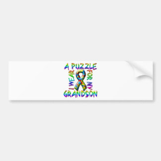 I Wear a Puzzle for my Grandson Bumper Sticker