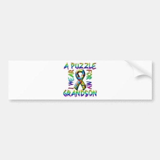 I Wear a Puzzle for my Grandson Bumper Stickers