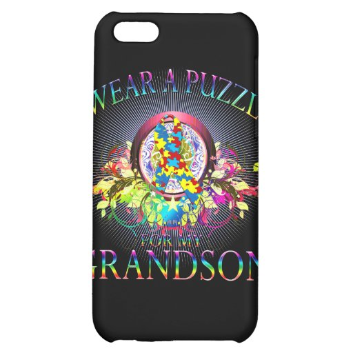 I Wear A Puzzle for my Grandson (floral) Case For iPhone 5C