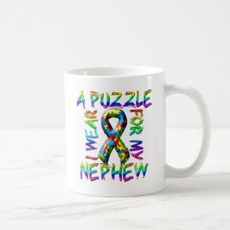 I Wear A Puzzle for my Nephew Coffee Mug