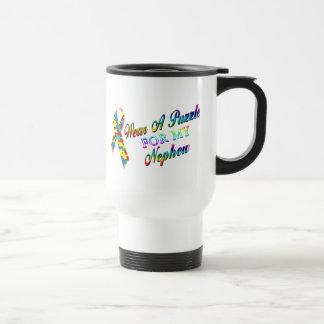 I Wear A Puzzle for my Nephew Travel Mug