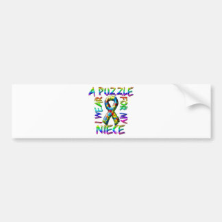 I Wear a Puzzle for my Niece Bumper Sticker