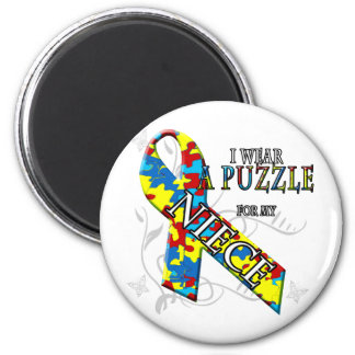 I Wear A Puzzle for my Niece Magnet