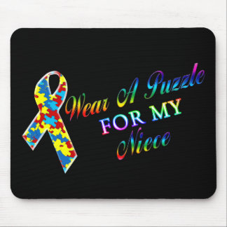 I Wear A Puzzle for my Niece Mouse Pad