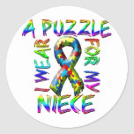 I Wear a Puzzle for my Niece Sticker