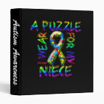 I Wear a Puzzle for my Niece Vinyl Binders