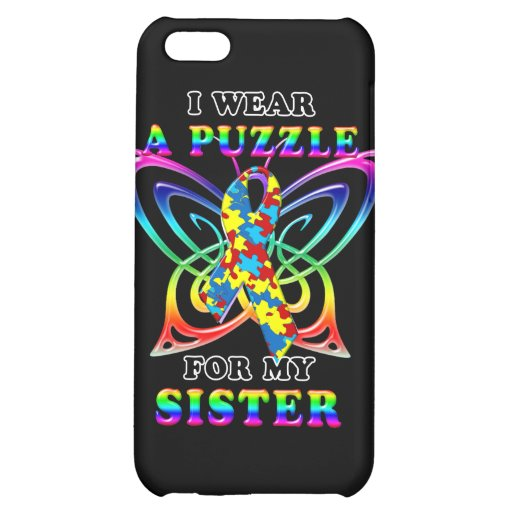 I Wear A Puzzle for my Sister Case For iPhone 5C
