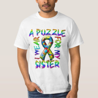 I Wear A Puzzle for my Sister Tee Shirt