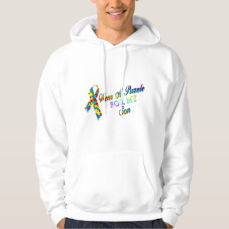 I Wear A Puzzle for my Son Hoodie