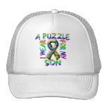 I Wear A Puzzle for my Son Mesh Hat