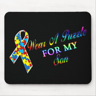 I Wear A Puzzle for my Son Mouse Pad