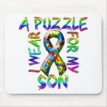 I Wear A Puzzle for my Son Mousepads