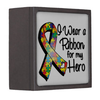 I Wear a Puzzle Ribbon For My Hero Gift Box