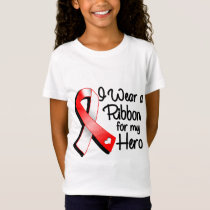 I Wear a Red and White Ribbon For My Hero T-Shirt