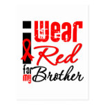 I Wear a Red Ribbon For My Brother Postcard