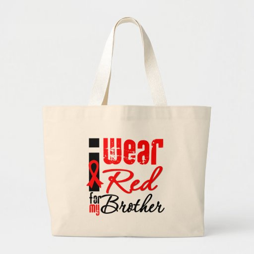 I Wear a Red Ribbon For My Brother Tote Bag