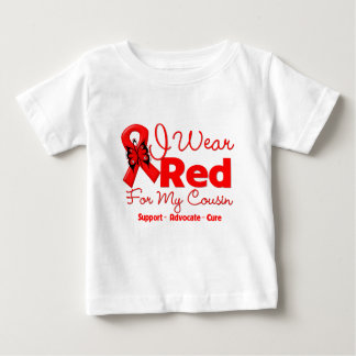 I Wear a Red Ribbon For My Cousin Baby T-Shirt