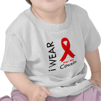 I Wear a Red Ribbon For My Cousin Tshirt