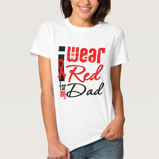 I Wear a Red Ribbon For My Dad T Shirt
