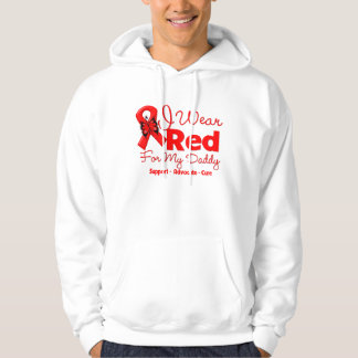 I Wear a Red Ribbon For My Daddy Hooded Pullover